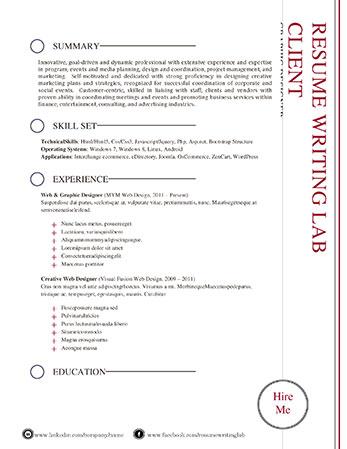 Resume Writing Templates | Professional Resume Templates Resume Writing Lab