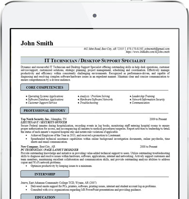 Professional It Resume  It Professional Resume