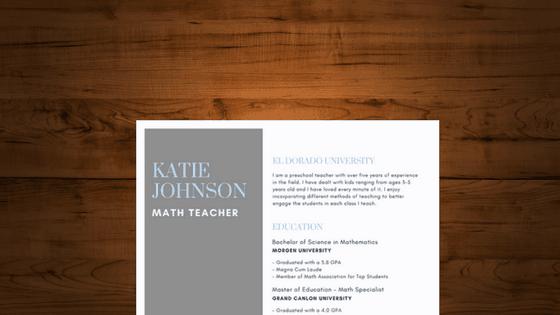 writing resume profile