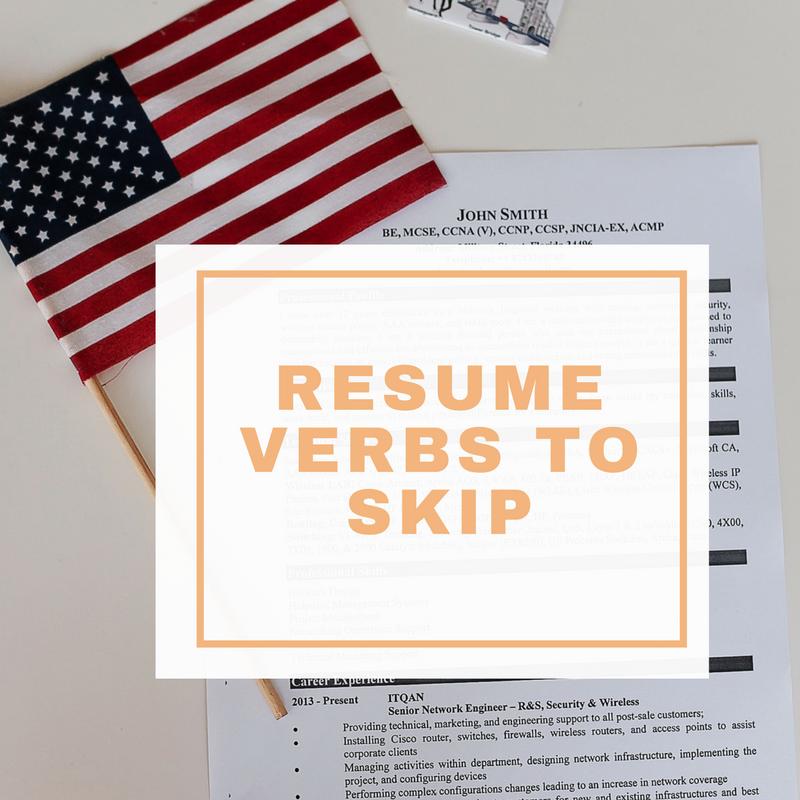resume verbs to skip