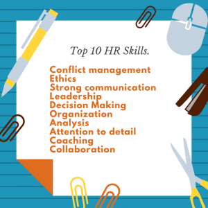 hr manager skills to put in resume