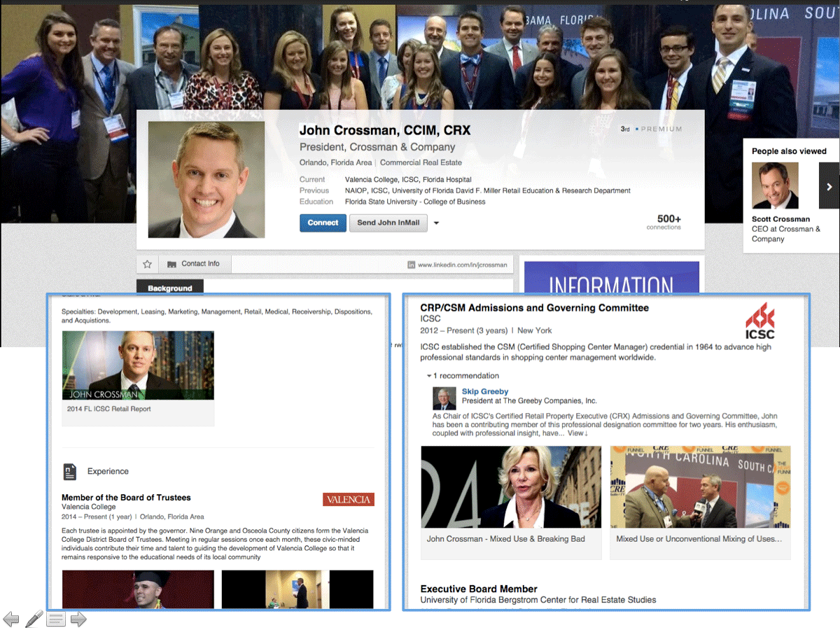 linkedin page examples