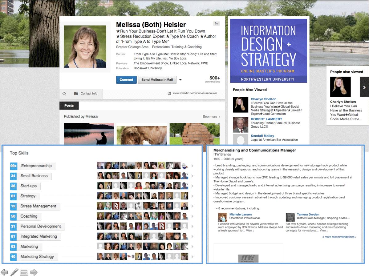 linkedin specialists page
