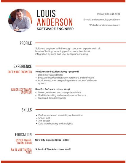 when to use curriculum vitae