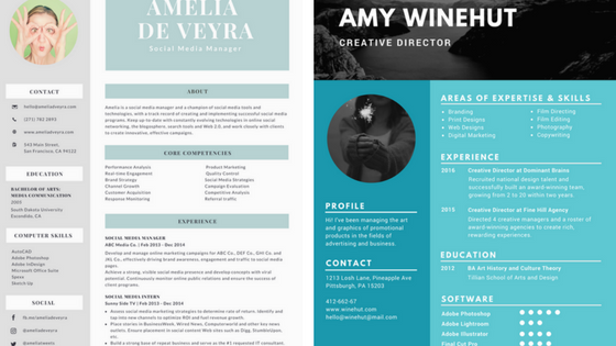 resume background