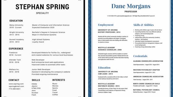 simple resume background design