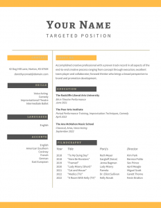 fill in resume examples
