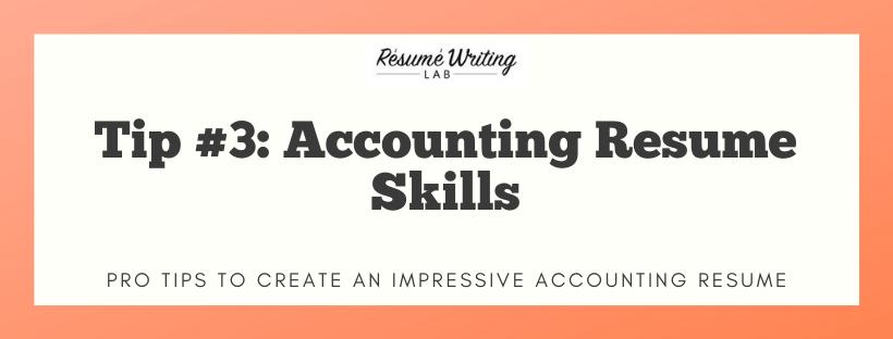 Accounting Resume Skills