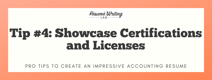 Showcase Certifications and Licenses