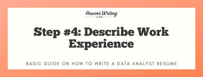 Describe Work Experience
