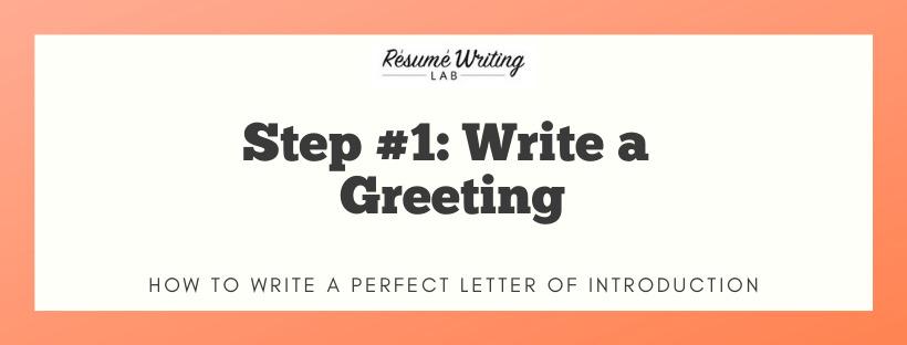 Write a Greeting