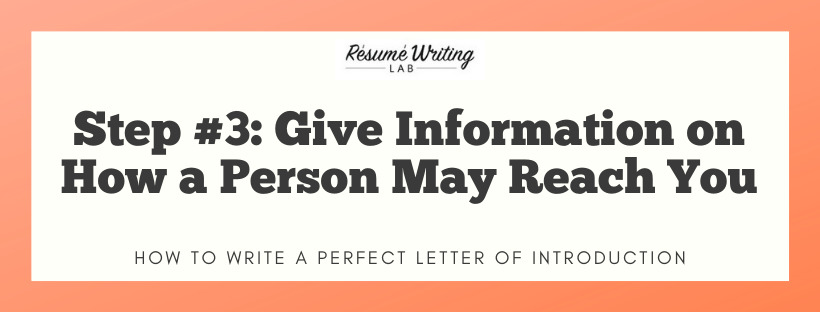 Give Information on How a Person May Reach You