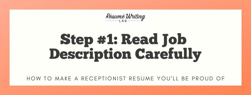 Read Job Description Carefully