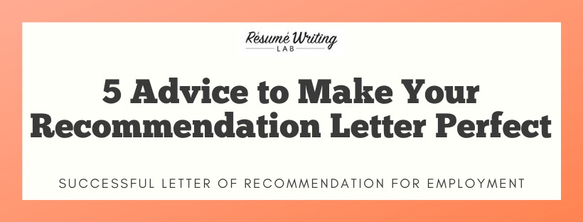 letter of recommendation for job